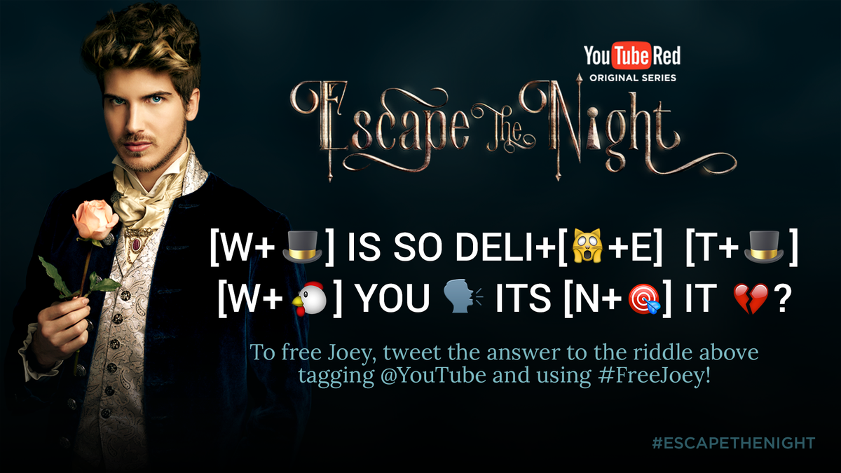 Crack the code and help #FreeJoey at the #EscapeTheNight panel for #Vi...
