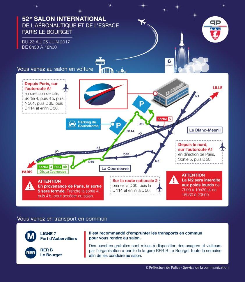 #circulation dispositif d'accès au 52e salon international de l'aéronautique et de l'espace ➡️https://t.co/TmJ7VPn1rO