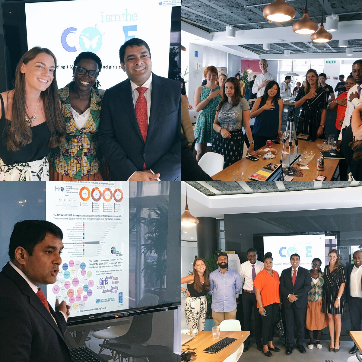 Grateful to @thoughtworks @laurapatersonuk @JadeyDaubney for hosting @ravikarkara @mjamme from @UN_Women! We can co-create for change! #STEM <br>http://pic.twitter.com/InIIYxwbcM