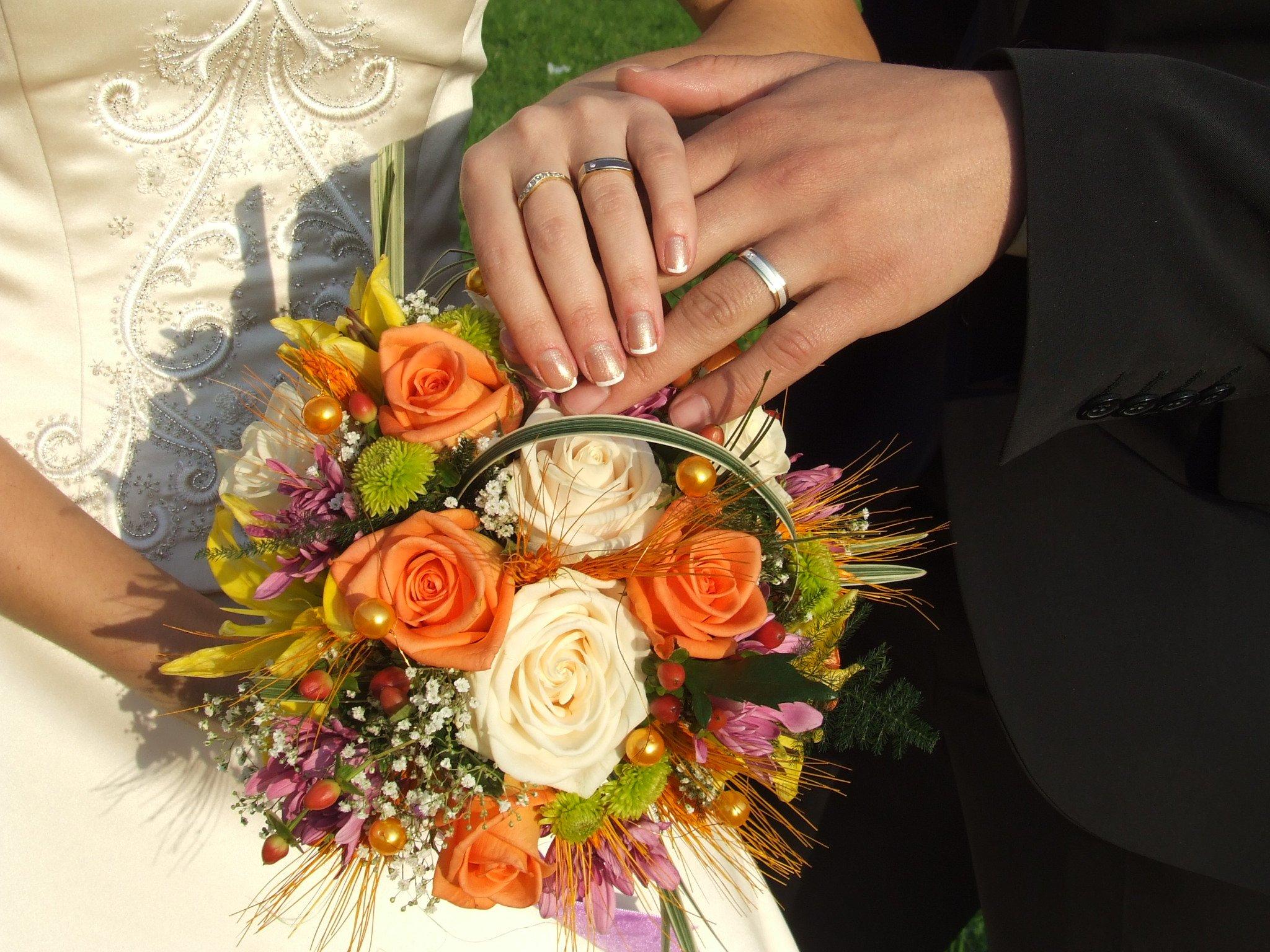 Зеленых роз, свадебный букет в загс №1