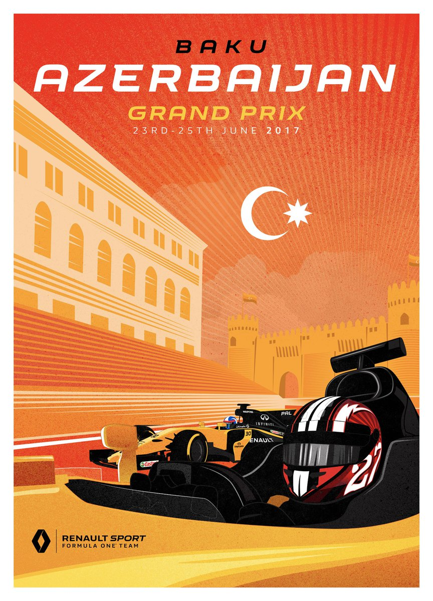 Circuit Of The Americas On Twitter Ferrari And Renault S Posters For The Azerbaijangp Turned Out Gorgeous Dare We Say Well Done