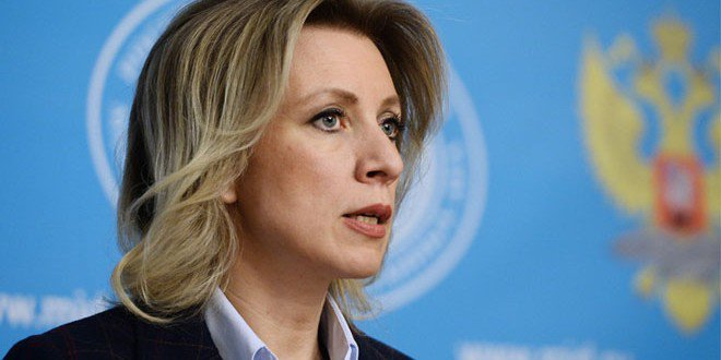 #Russian diplomat M,#Zakharova:The recent #US downing of the #Syrian Jet is outrageous &amp; a blatant breach of norms of international law.<br>http://pic.twitter.com/0Fdj1vA3p0