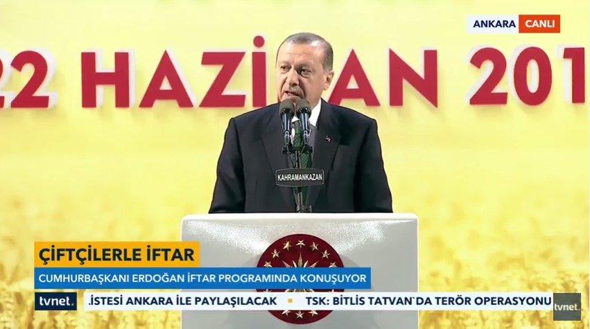 CB @RT_Erdogan, Kahramankazan'da çiftçilere verilen iftar sonrası konu...