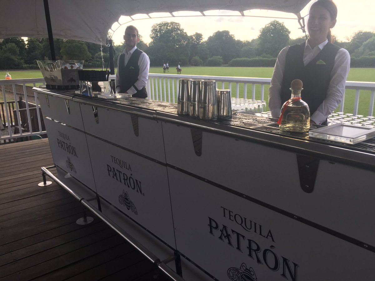 Great to have @Patron looking after our guests today! 👏🍸🍹#LaureusPolo...