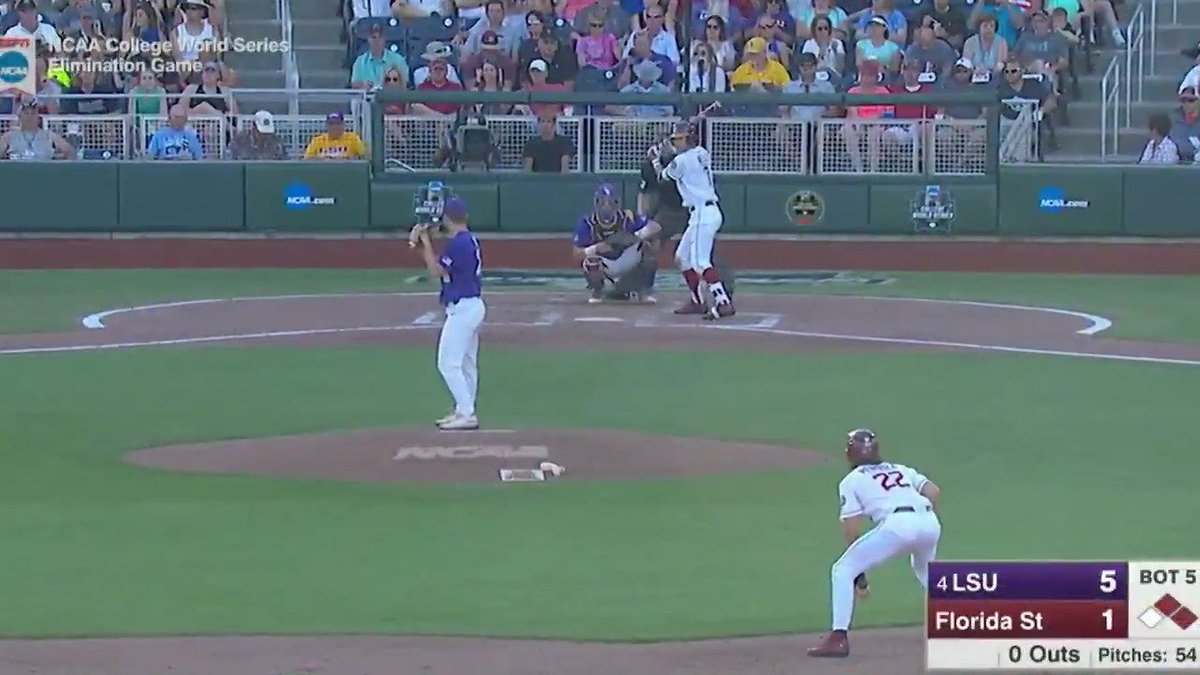 ICYMI: Jared Poché and LSU kept the season alive with a HUGE victory over Florida State last night! #CWS