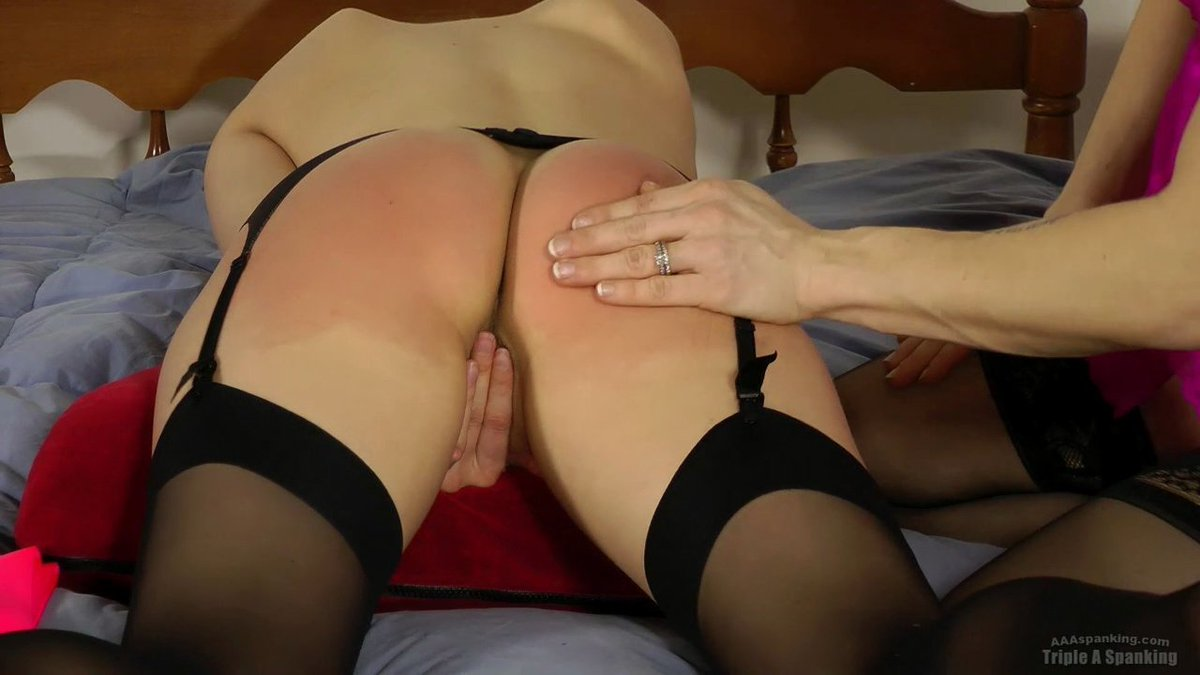 Spanked while wearing a thong