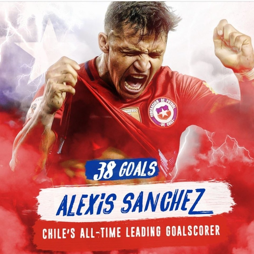Alexis Sanchez makes Chilean history against Germany! Best attacking player to wear the Chile shirt? #chile#laroja#alexissanchez<br>http://pic.twitter.com/cYsM96Herg