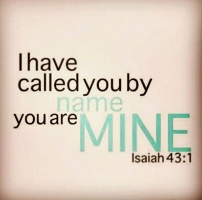 I have called you by name .. you are mine | #nonprofit #charity #Christian<br>http://pic.twitter.com/jQkfyCUGAa