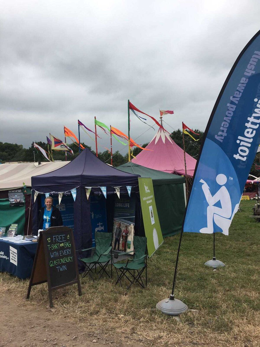 Check out our limited edition toilet-tastic #Glasto17 offer: free t-shirt &amp; bag with every twinning at our #GreenFutures stand #glastonbury<br>http://pic.twitter.com/sQqo1Q26xb