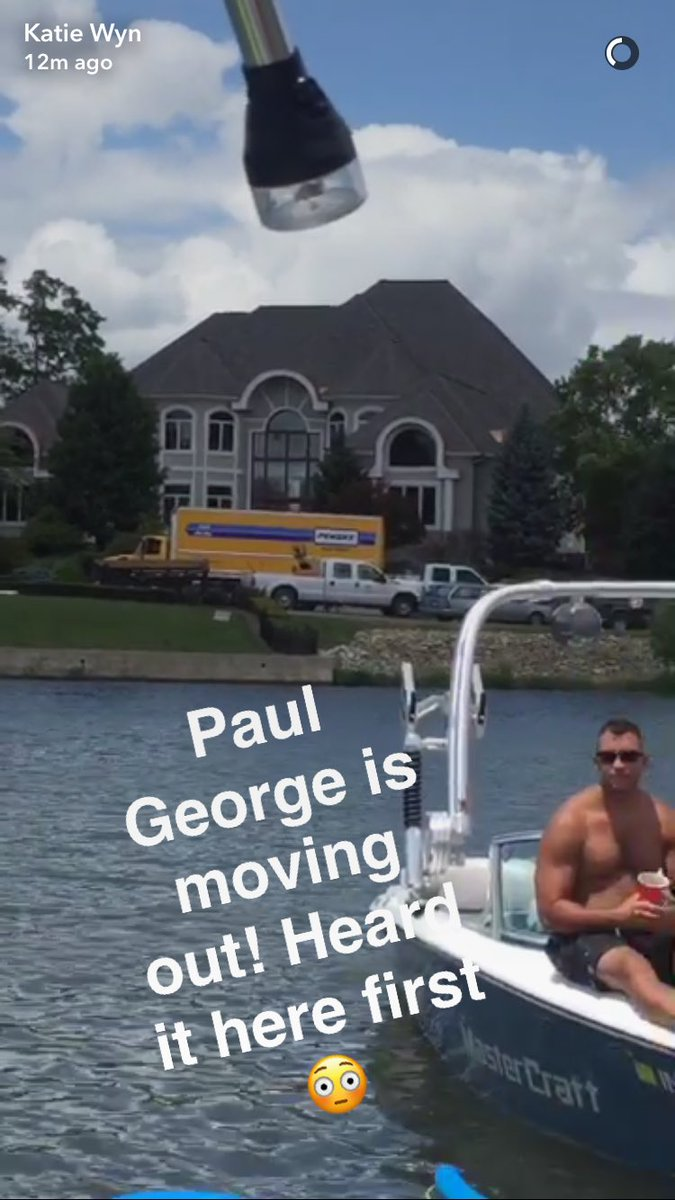 Moving truck spotted outside Paul George's home on Geist. (via @katie_wyn, @PEEKAshley) https://t.co/pBzgeHabSx