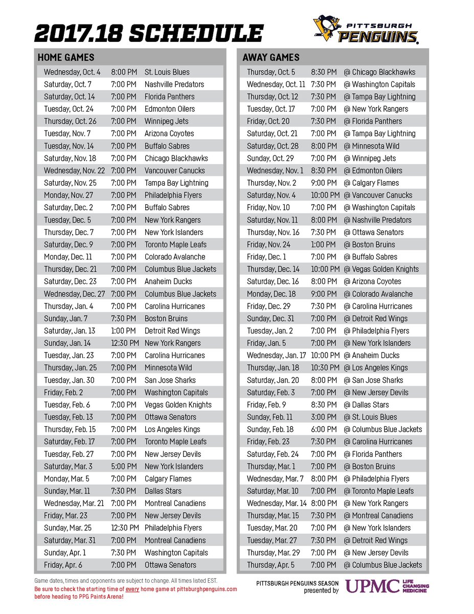 Print it, save it, and get ready for another hockey season right around the corner!