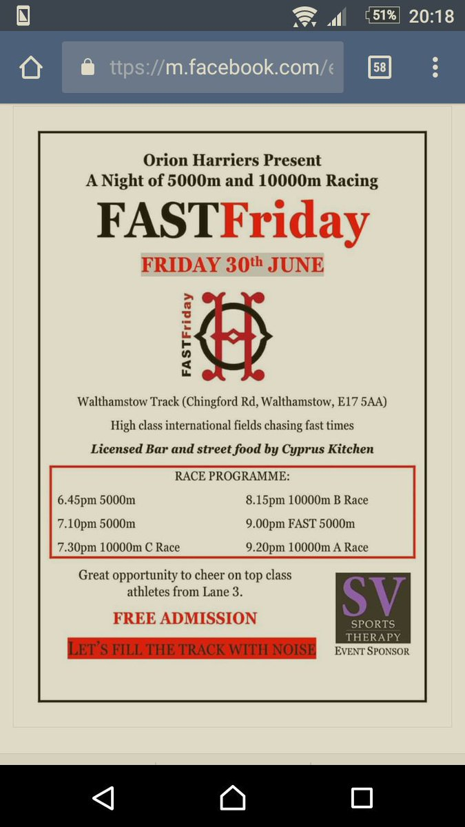 If you are free aweek next Friday, check out and pop down to #FastFriday #lane3 #ukrunchat #running @markhookway @tracksidepod @UKRC_London<br>http://pic.twitter.com/HyGUmmIDiU