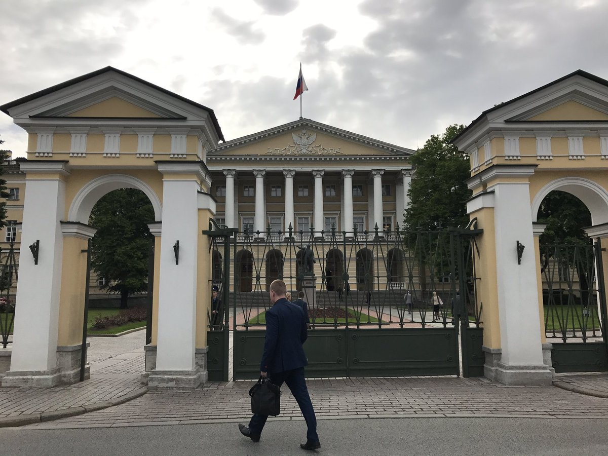 Smolny Institute, former girls academy taken over by Bolsheviks as their HQ in mid-1917, from which Lenin directed October coup.