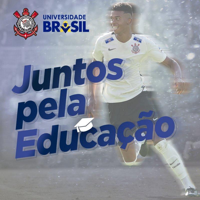 Fala, Fiel! A partir do #CORxBAH na @A_Corinthians, começa a nova parceria entre #Corinthians e Universidade Brasil!