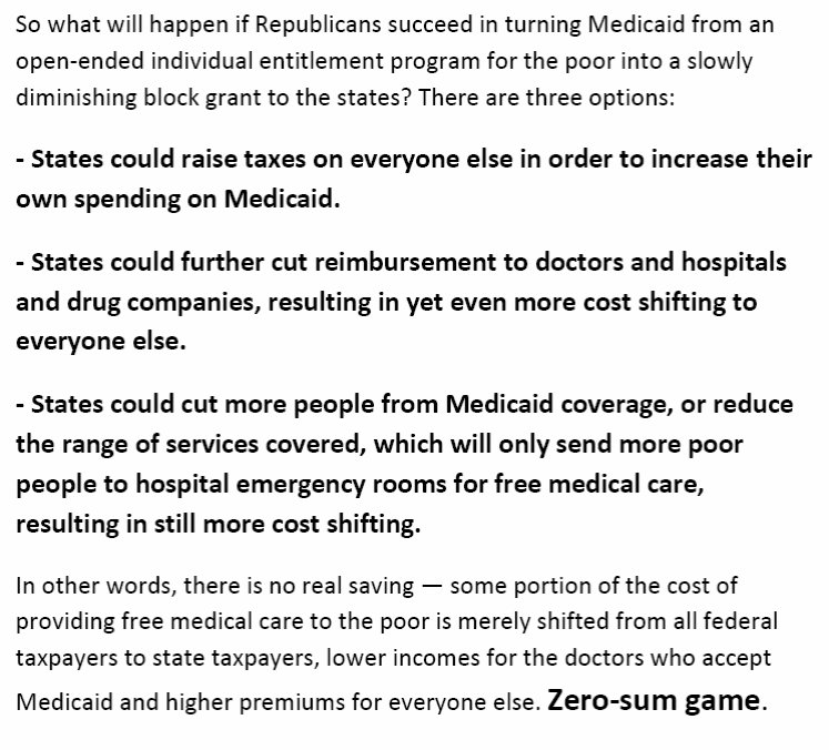 #HealthcareBill what the people who say pay for your own care don&#39;t get about #Medicare we will all still pay, but at a higher cost! <br>http://pic.twitter.com/iBBEUp969j