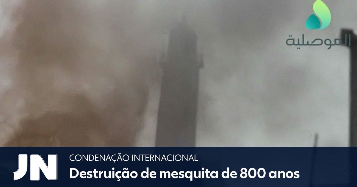 #JN mostra a repercussão mundial da destruição, no Iraque, de uma mesquita muito importante para o Islã: https://t.co/LqAVszwL6y