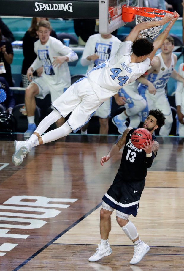 Justin Jackson's last shot as a college athlete, in case y'all forgot.