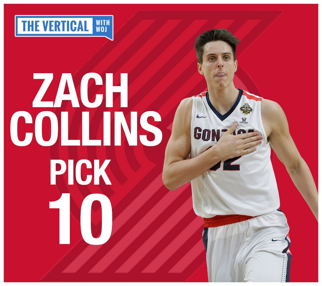 Gonzaga's Zach Collins is staying in the Northwest.  Live: https://t.c...