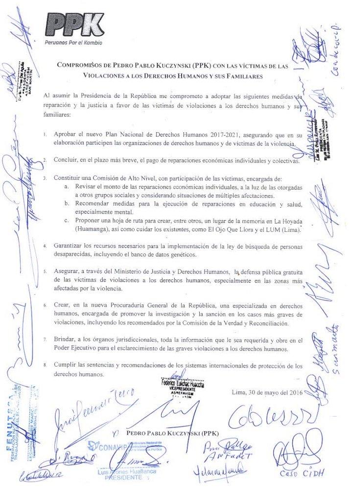 Ver punto 8 de este compromiso firmado por @ppkamigo 30 mayo 2016. Choca con indulto al reo A. Fujimori #noalindulto https://t.co/jOs8Qqg5am