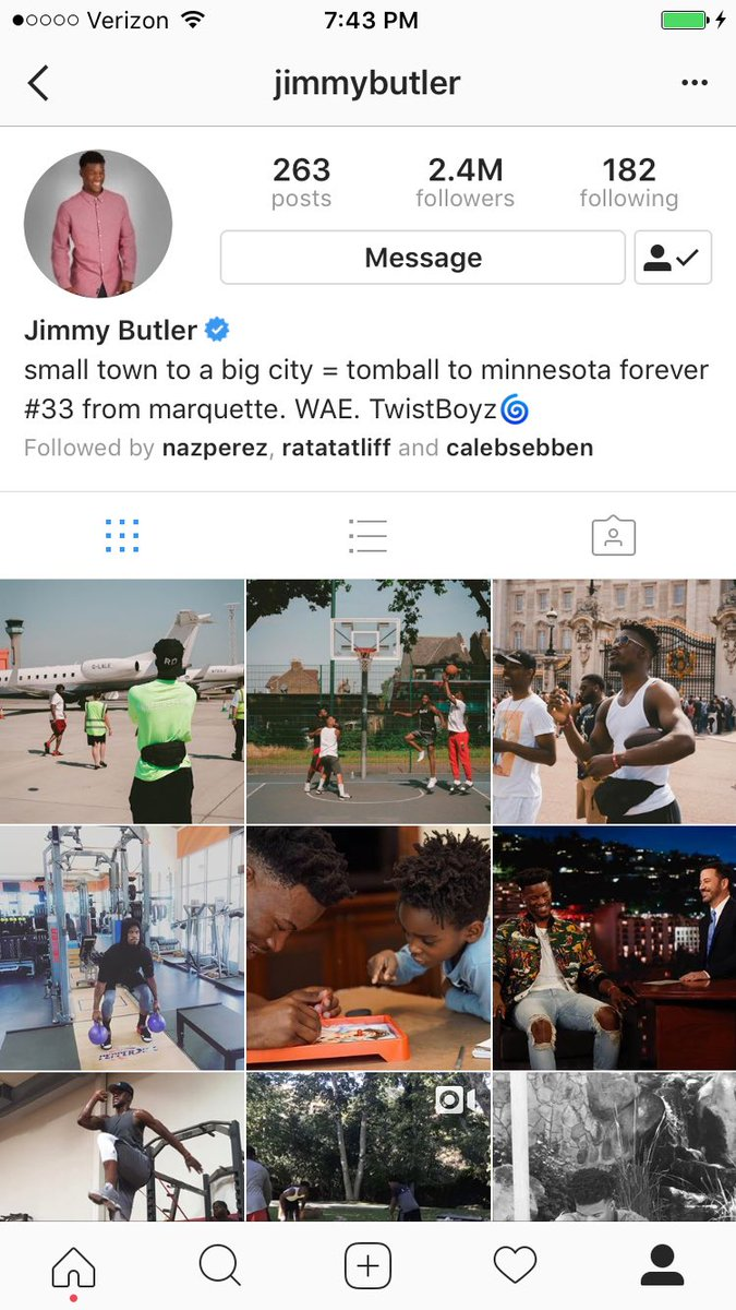 Jimmy Butler already changed his bio LOL. #Twolves <br>http://pic.twitter.com/uWPuL40VYy