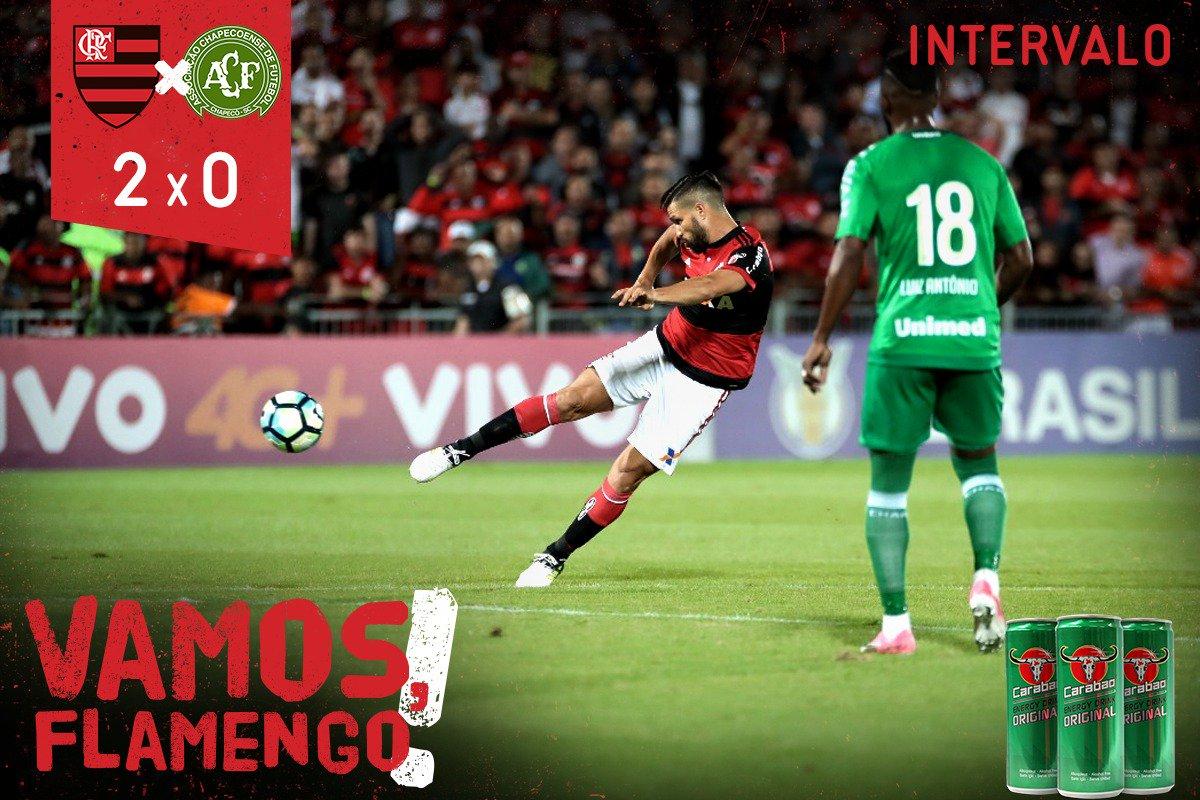 FIM DO PRIMEIRO TEMPO! O Flamengo vai vencendo por 2 a 0, com gols de...