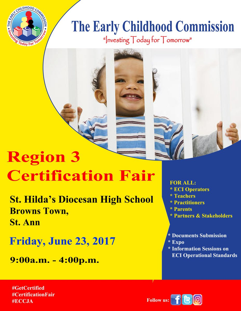 #Parents in St Ann: Come join us as we endorse &amp; support the hard working team at the ECC tomorrrow. Indeed  EarlyChildhood matters. <br>http://pic.twitter.com/F802p4FUA0