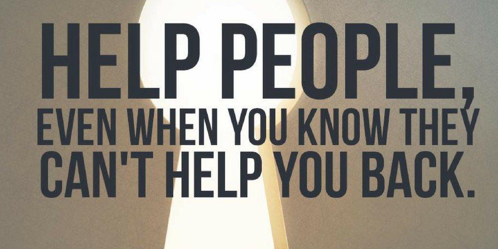 Help people, even when you know they can&#39;t help you back. #BeKind #HelpOthers #ServeYourCommunity #Ziglar  http:// ziglar.com  &nbsp;  <br>http://pic.twitter.com/QRYMLq2uUQ