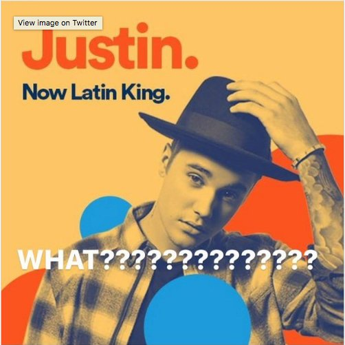 Spotify pulled their ad calling Justin Bieber a 'Latin King' after maj...