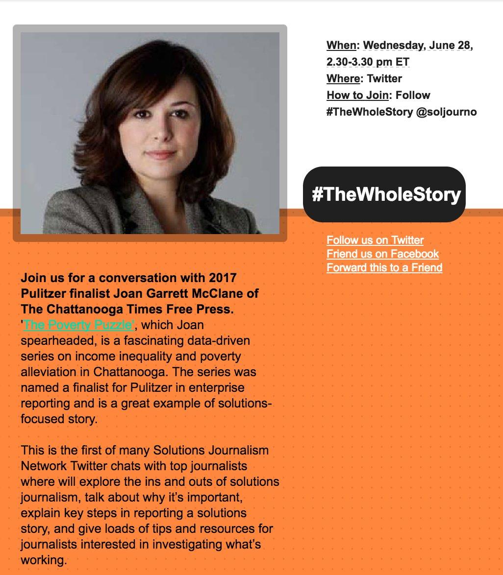 Join #thewholestory Twitter conversation next week! @soljourno https://t.co/aAMnV4CfkF