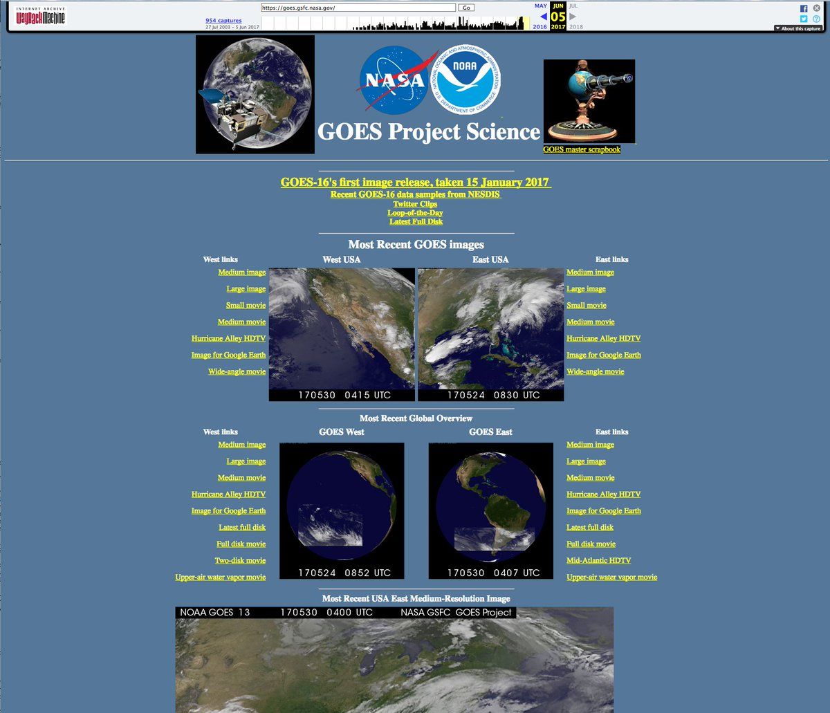 Can anyone view this #NASA website? https://t.co/6jLYyRCFf5 This is what it looked like on 5 Jun 2017. Lots of that Earth science stuff ...