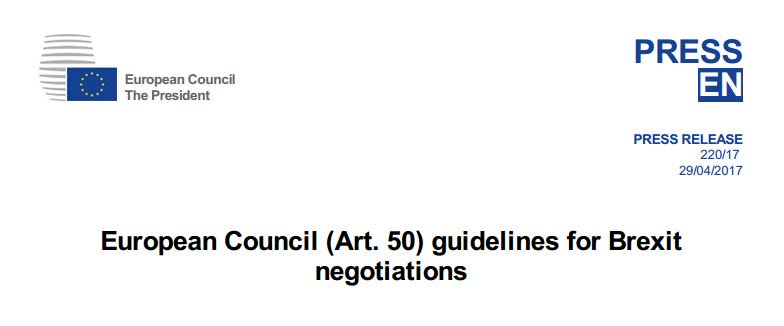 You can read the full guidelines set out by the EU for the Brexit negotiations here #bbcqt https://t.co/IAq8Y1BUHl
