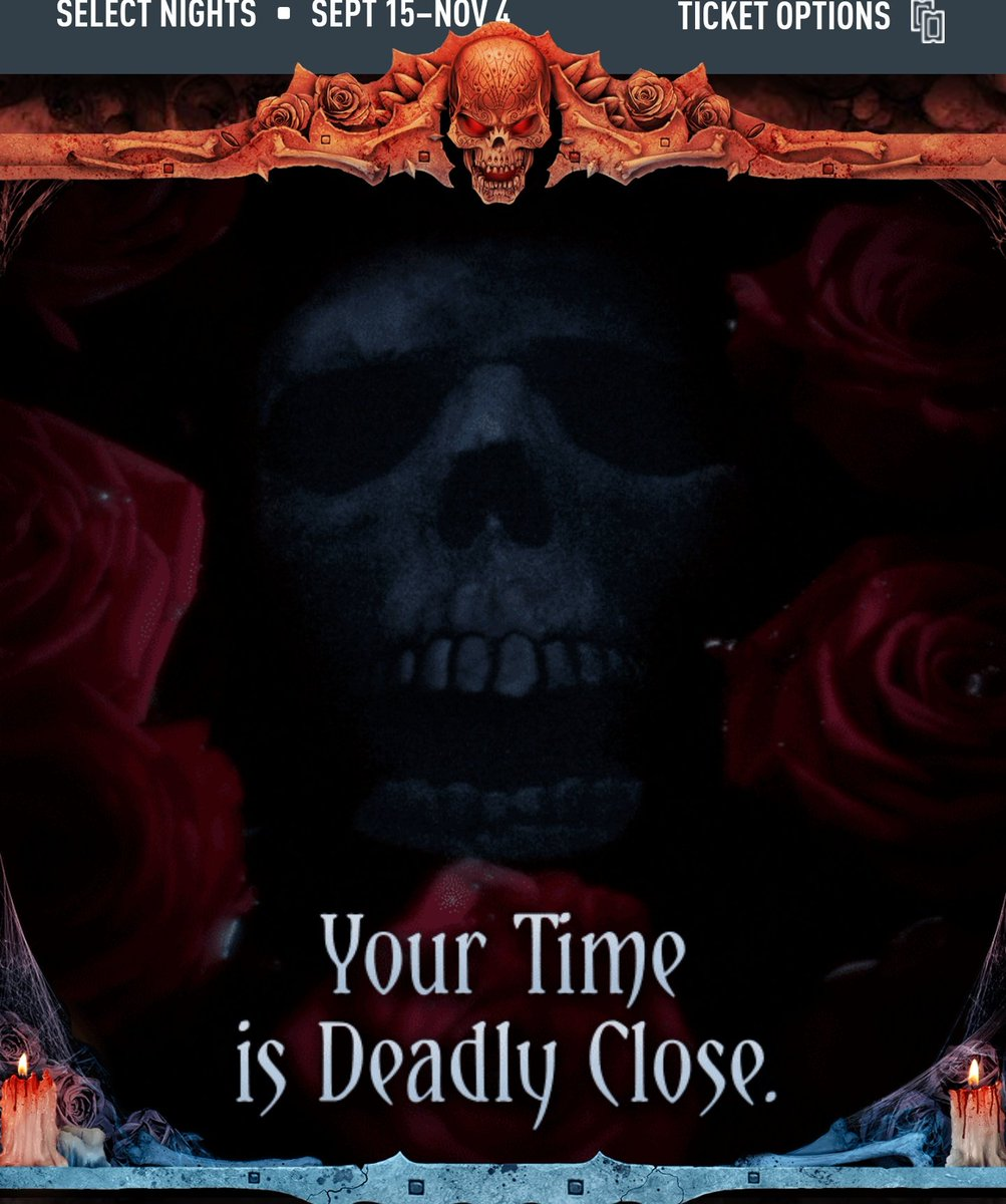 Text changed on the HHN Orlando Website from &quot;All Our Times Will Come. Soon.&quot; to &quot;Your Time is Deadly Close&quot;. #HHN #HHN27 <br>http://pic.twitter.com/3T2kNYTcOb