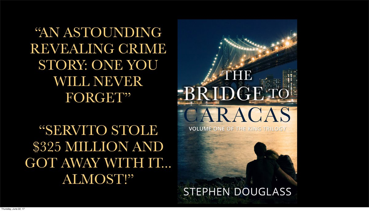 """I loved this book, and immediately downloaded 'The Tainted Trust' to my Kindle""   http:// bookgoodies.com/permafree-eboo k-the-bridge-to-caracas-by-stephen-douglass/ &nbsp; …   #freebooks #crime #Romance<br>http://pic.twitter.com/XTGFrXBeoM"