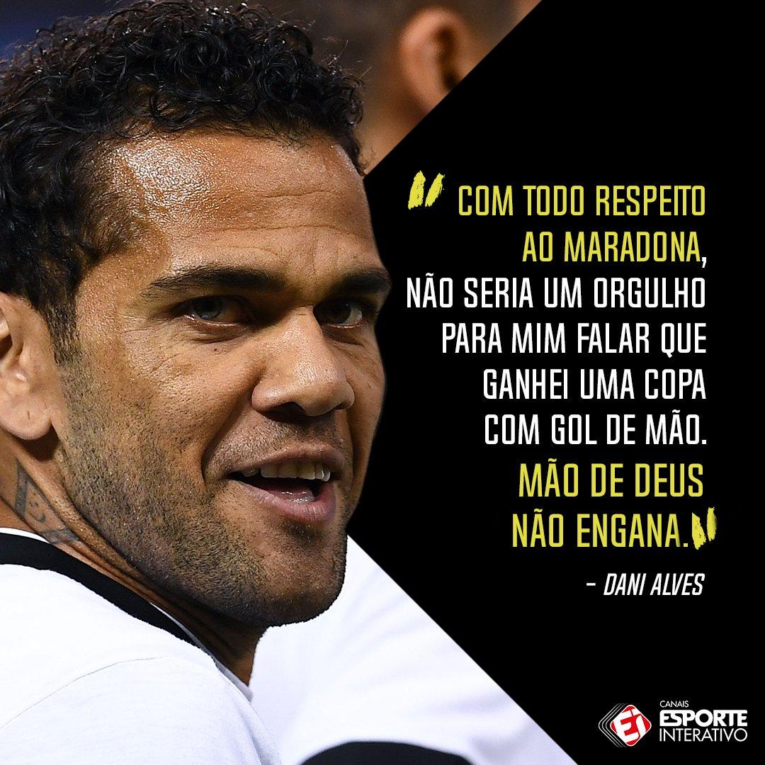 No aniversário da Mão de Deus, impossível não lembrar dessa frase do Dani Alves sobre o gol do Maradona. Concorda com o brasileiro?