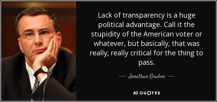 """""""The Stupidity of the American Voter ... was really, really critical for the thing [#Obamacare] to pass."""" ~ Jonathan Gruber #Healthcare <br>http://pic.twitter.com/jEMlDDohoN"""