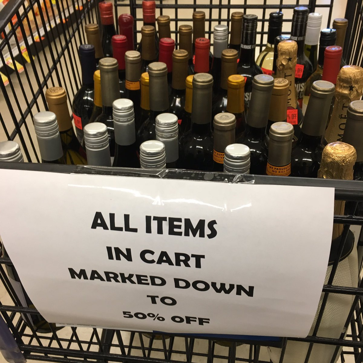OMG, my local store totally gets me!!!  May your shopping cart always be full on #ThirstyThursday! #wine <br>http://pic.twitter.com/NKeoSkZmed