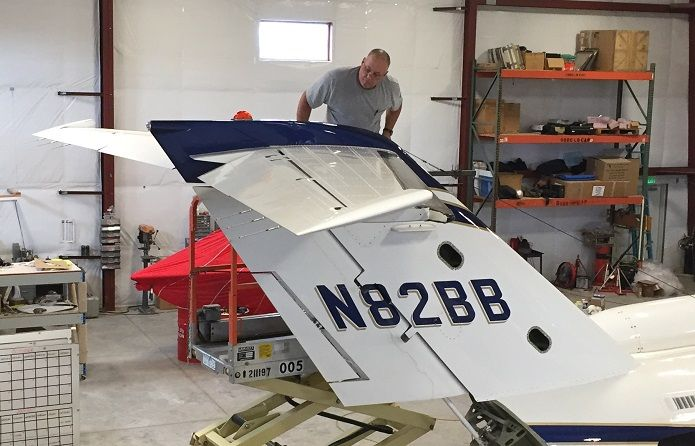 One step closer to the first CJ2 #ActiveWinglets installation. Join the Active Winglet Revolution! #activewinglets #avgeek #cessna #aviation<br>http://pic.twitter.com/FP3sO5OJoQ