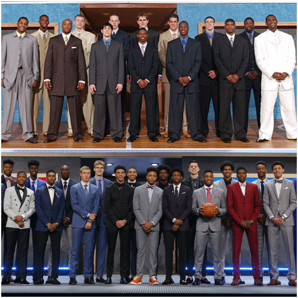 2003 vs. 2017 #NBADraft suit game. https://t.co/Yemyf137aW