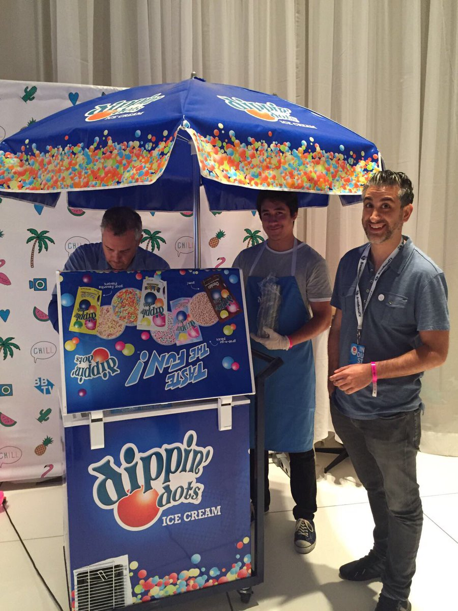 The @DippinDots are hereeeee!!! 😋😋😋 #bbtvfam #vidconus https://t.co/l5...