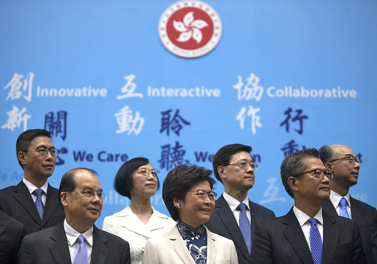 Opinion: Carrie Lam's weak cabinet of has-beens and second-choice wannabes invites Beijing interference in #HongKong https://t.co/yM6RETS6ol