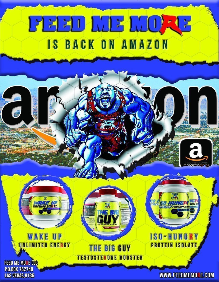 @FMMNutrition is NOW Available on Amazon in the United States 🇺🇸 Inventory shipping to Canada and Europe this week as well. #GetHungry