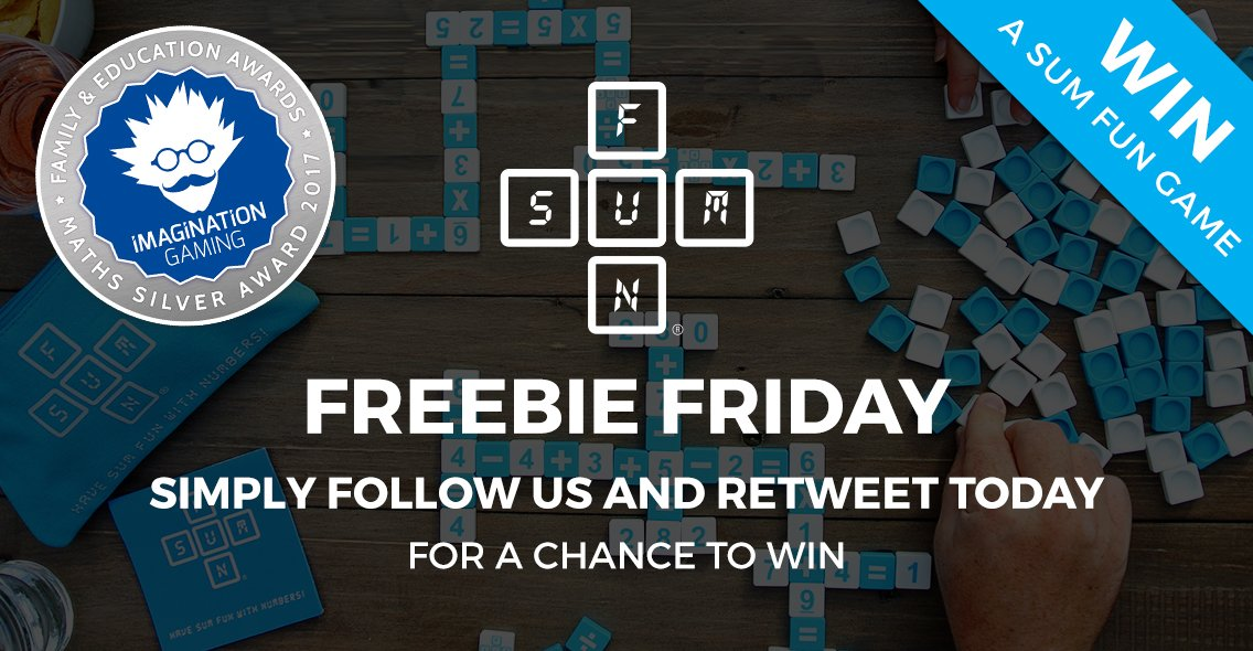 #Win the award winning Sum Fun game! Follow &amp; RT for a chance to win. #FreebieFriday #FridayFreebie #Giveaway #Maths  http:// tinyurl.com/z5ynt78  &nbsp;  <br>http://pic.twitter.com/EHNdAf98s7