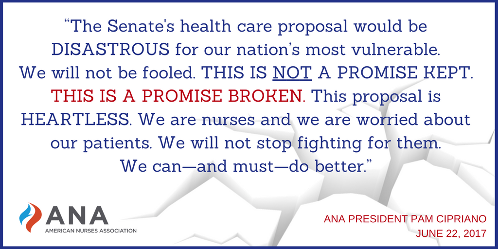 The @SenateGOP plan for #healthcare is heartless. It is a promise broken. Nurses won&#39;t stop fighting for patients #ProtectOurCare #Trumpcare<br>http://pic.twitter.com/roUpMy8xRv