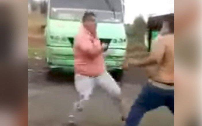#EnloquezcoCon el microbusero que termina noqueado por gandalla, y gra...