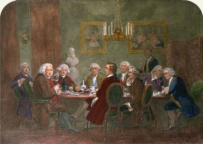Joshua #Reynolds, Dr. Samuel Johnson and the Turk&#39;s head Club, #Soho, #London<br>http://pic.twitter.com/Zzm7rUSYpd