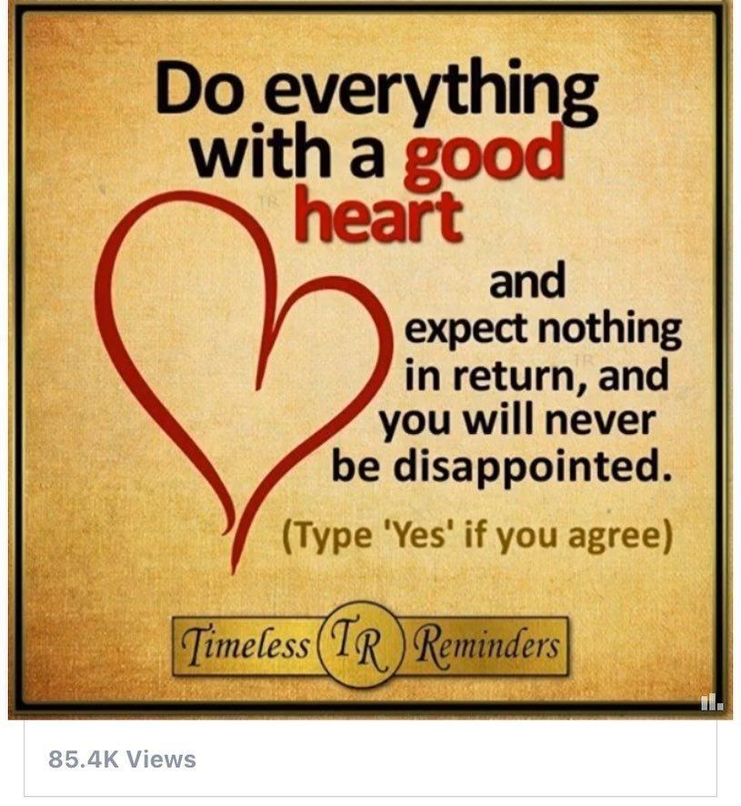 No expectations #noexpectations #goodheart #kindness #helpothers #help #heart  http:// ift.tt/2sZYYed  &nbsp;  <br>http://pic.twitter.com/8DznEorN8K
