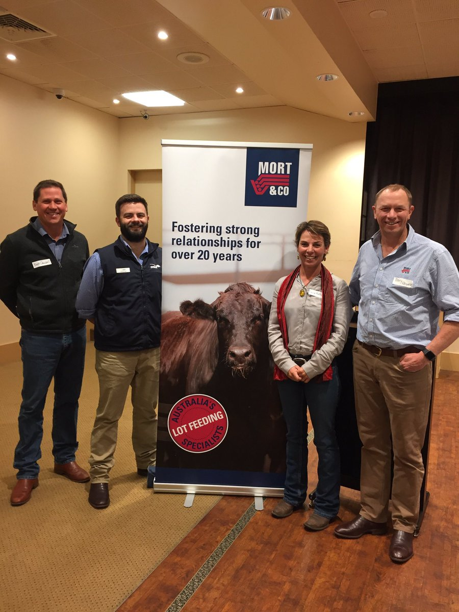 Road show team; Brett Campbell &amp; Berry Reynolds from #Mort&amp;Co on the wings, Erica Halliday #BenNevis and yours truly #MSA @meatlivestock<br>http://pic.twitter.com/gxXOP1GFwz