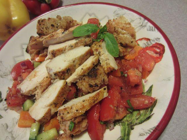 Panzanella Salad w/ Grilled Chicken
