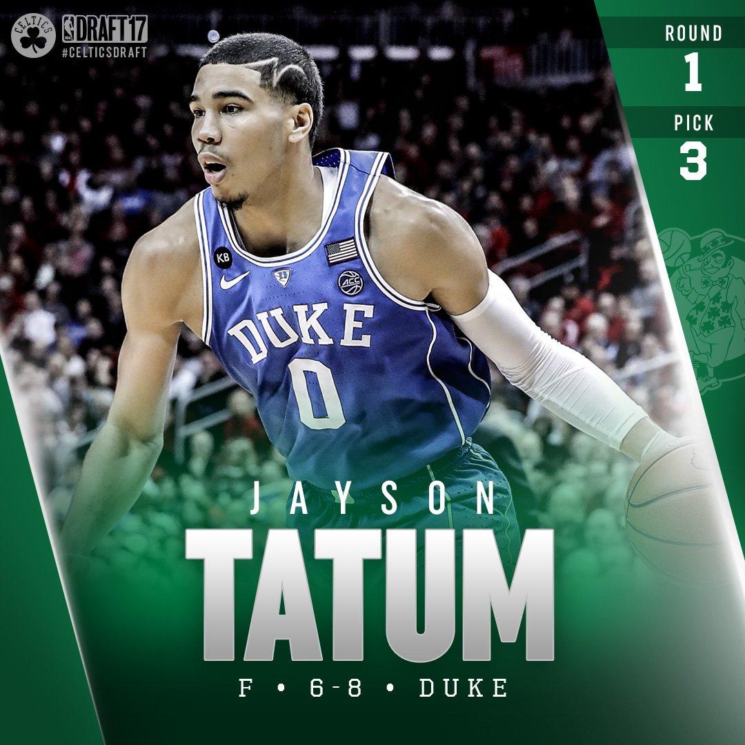 Welcome to Boston, @jaytatum0! #CelticsDraft ☘️