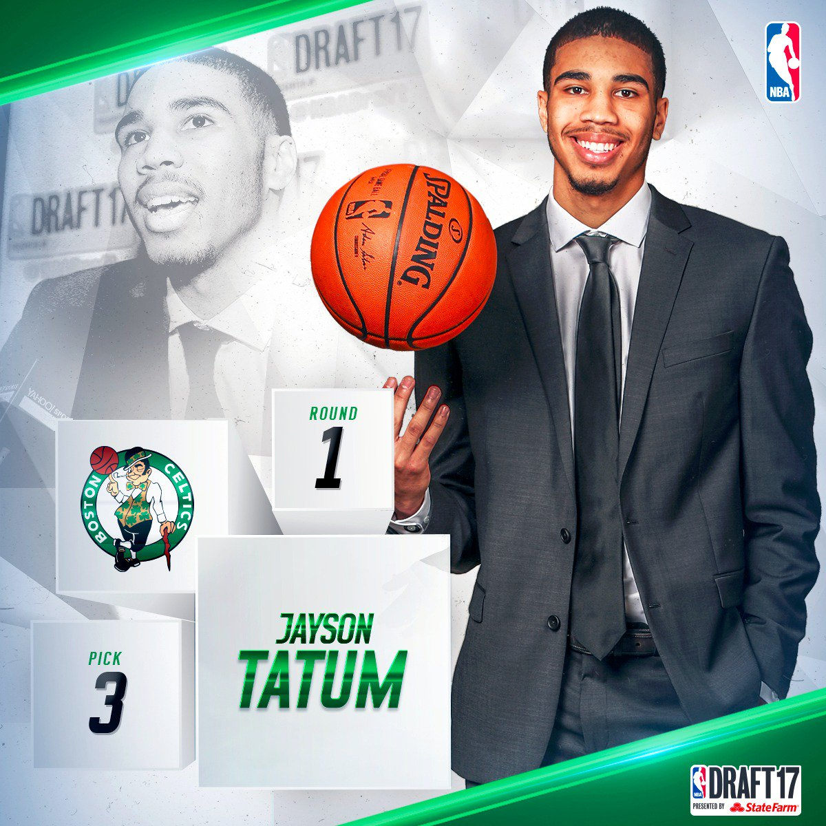 With the third pick in the 2017 #NBADraft, the @celtics select @jaytat...